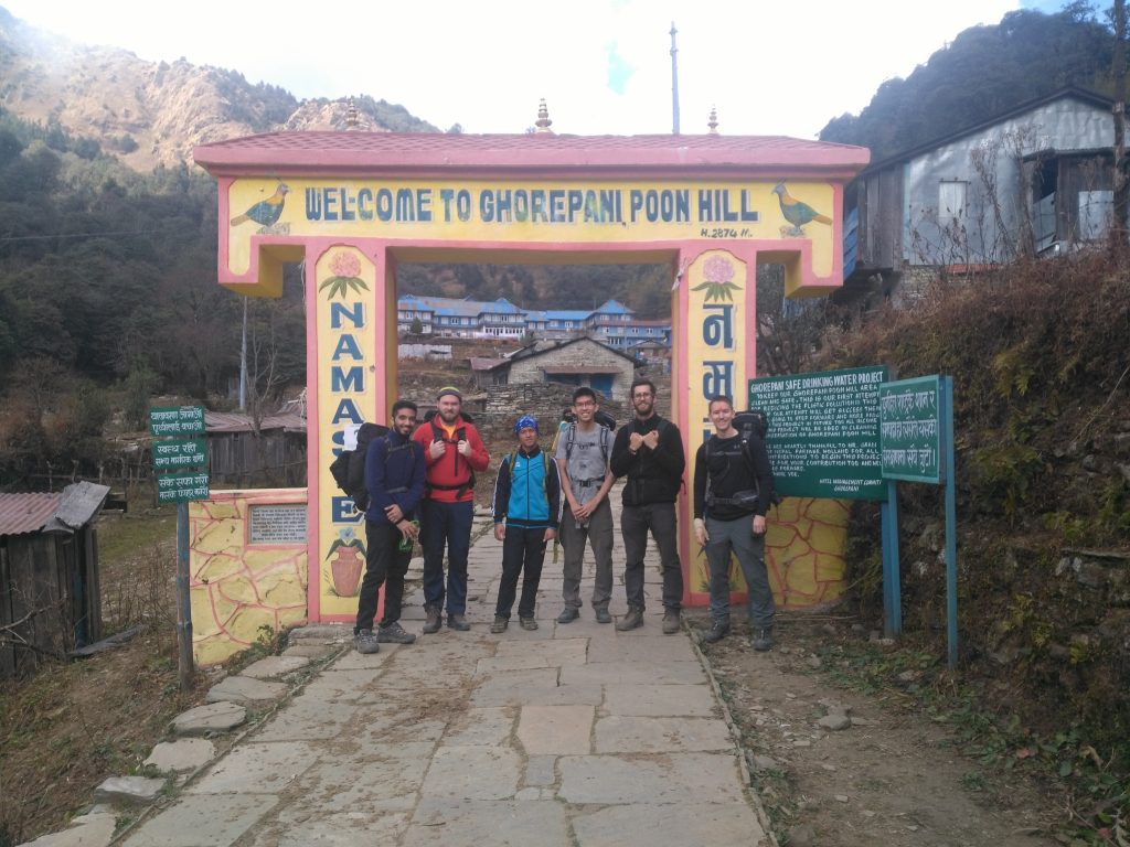welcome to ghorepani poonhill