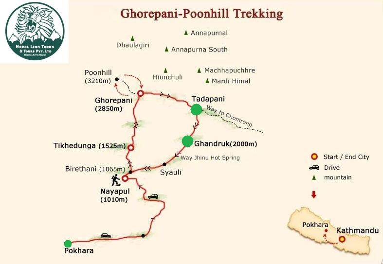 Tadhapani-Ghandruk-Pokhara