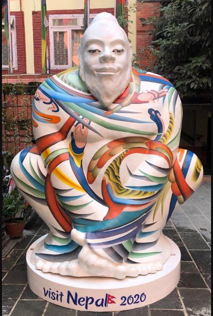 Yeti statue for Visit Nepal 2020